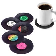 Posavasos Retro Para CD, accesorios creativos de vinilo para café, té y posavasos, para la cocina, para conveniencia, taza de café, posavasos, 8