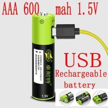 Продукт ZNTER 1,5 V 600mAh 900mwh USB Перезаряжаемый AAA Lipo аккумулятор литий-полимерный литий-ионный аккумулятор большой емкости