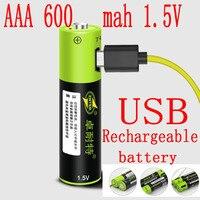 منتج جديد ZNTER 1.5 فولت 600mAh 900mwh USB قابلة للشحن AAA يبو بطارية ليثيوم بوليمر بطارية ليثيوم أيون قدرة عالية-في بطاريات قابلة للشحن من الأجهزة الإلكترونية الاستهلاكية على