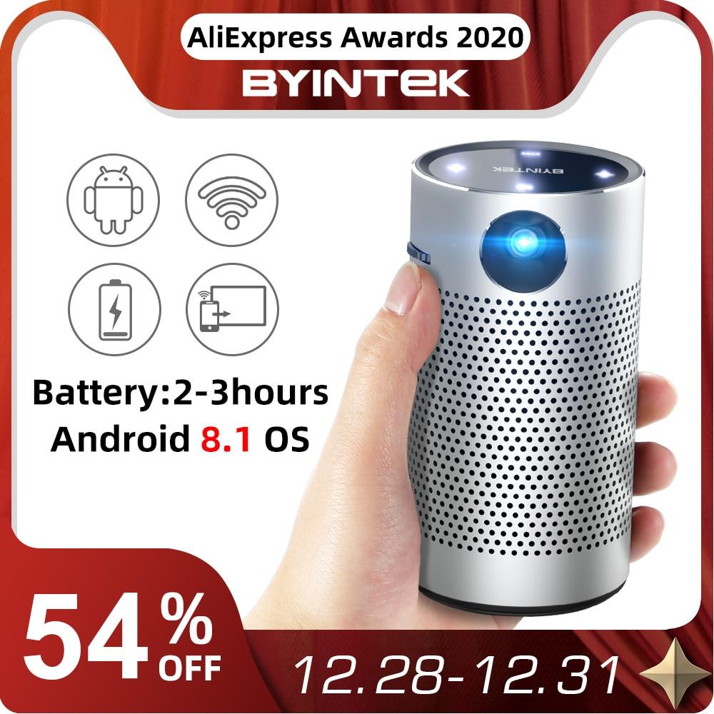 Byintek p7 projetores de bolso portátil pico inteligente android wifi 1080p 4k tv laser mini led cinema em casa telefone dlp projetor-0