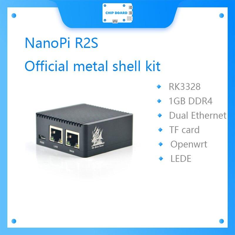 FriendlyARM NanoPi R2S Official металлическая оболочка система OpenWrt RK3328 мини-роутер с двумя гигабитными портами 1 Гб большой памяти