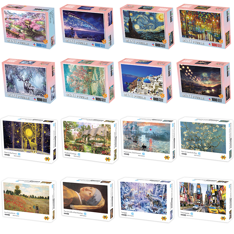 1000 Pieces Jigsaw Puzzles Landscape Pattern Pictures Adult Puzzles Assembling Picture Kids  Home Games Educational Toys