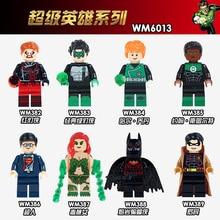WM6013 Red Green Lantern Hal Jordan John Stewart Poison lvy Superman Collection Bricks Building Blocks Children Gifts Toys DIY