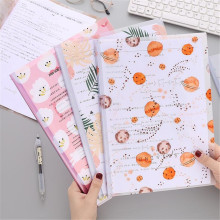 A4 Transparent Clips Folder Holder Document Stationery Report-Covers Cute Bag Rod-Clamp