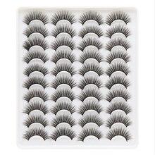 20 pares 6d falso vison cílios naturais boneca cílios postiços extensão maquiagem cílios maquiagem