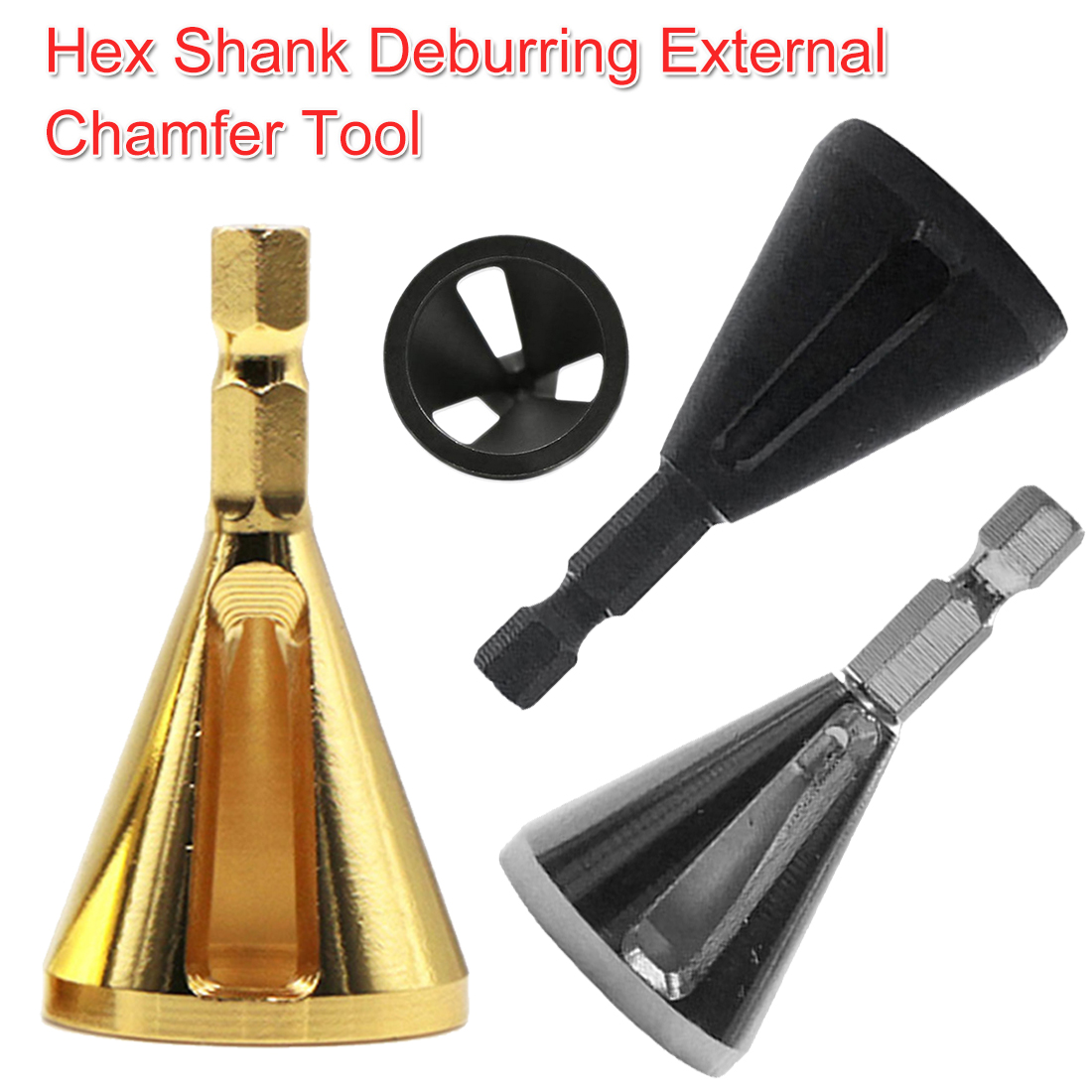 Steel Deburring External Chamfer Tool Drills Bits Remove Burr Tool Repair Damaged Bolts 1/4 Shank For Metal /Stainless Steel