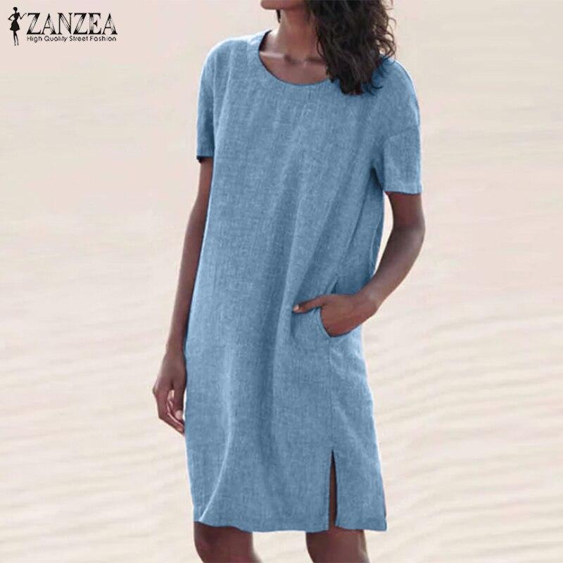 Blue Purple Multi-color Half Sleeves Casual Summer Mini Sun DRESS S M L XL