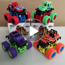 Children boy toy car four-wheel drive inertial off-road vehicle tipping swing bigfoot car model four wheel drive off road vehicle simulation model toy car model baby toy car gift