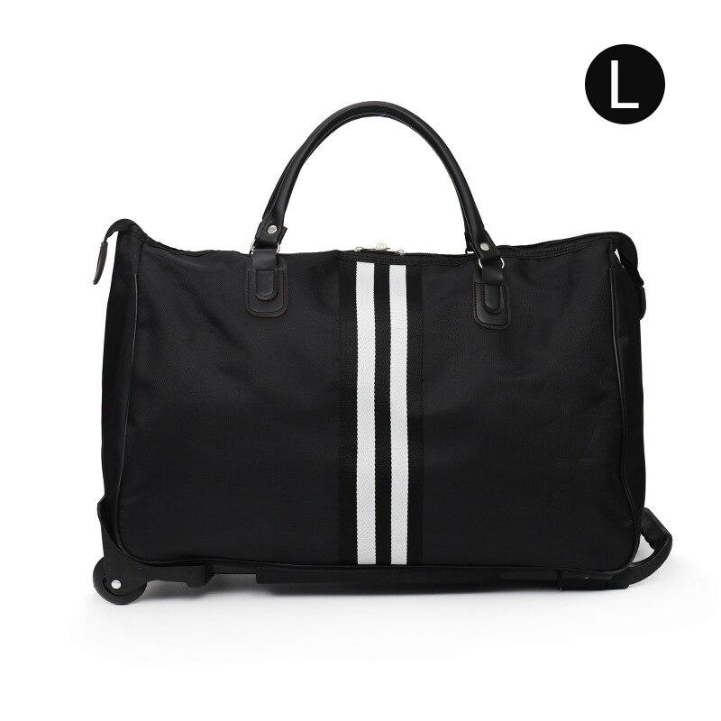 Полосатая сумка для переноски, водонепроницаемая нейлоновая сумка-тролли для путешествий, мужские дорожные сумки, складной чемодан с колесами XA225C - Цвет: Style 2 L