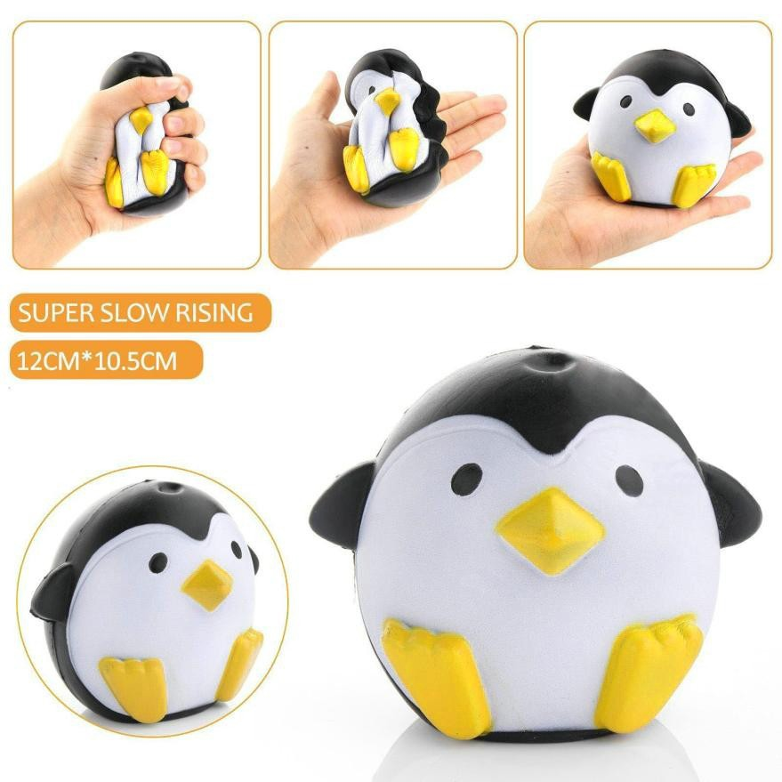 Lovely Jumbo Soft Fat Penguin Squishy Toy Slow Rising For Children Relieves Stress Anxiety Family Decor Birthday Gifts
