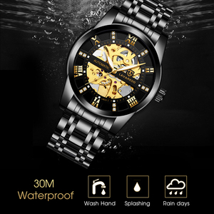Image 3 - Lavaredo Stainless Steel Classic Series Transparent  Movement Steampunk Men Mechanical Skeleton Watches Top Brand Luxury A5
