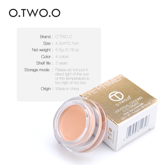 O.TWO.O Eye Primer Concealer Cream Makeup Base Long Lasting Concealer Easy to Wear Cream Moisturizer Oil Control Brighten Skin 1