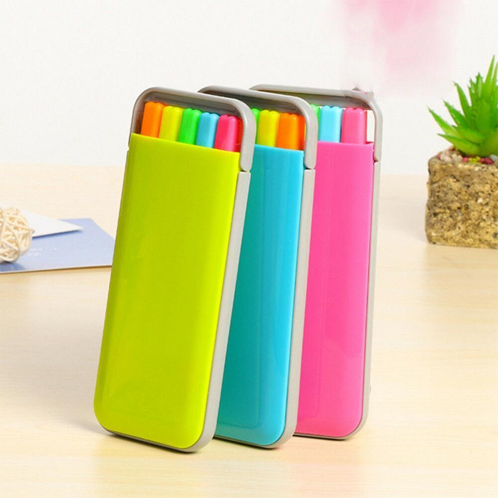 5 Colors/box Candy Color Highlighter Pen Set Mini Fluo Markers Stationery Office School Supplies Caneta Fluorescente