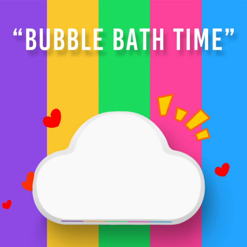 Rainbow Cloud Bath Salt Exfoliating Moisturizing Natural Bubble Bath Bombs Ball