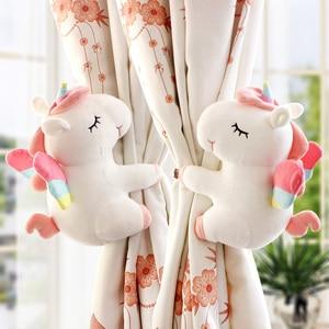 Image 5 - 2pcs Unicorn Window Curtain Hook Straps  Bedroom Buckle Hangers Belt Tieback Buckle Kids Children Bedroom Decorative Accessories