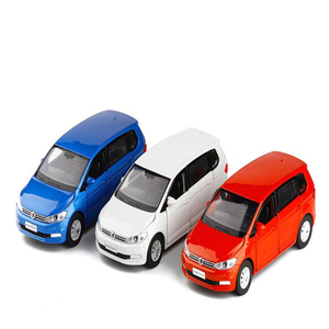 Image 2 - 1/32 Ratio Kids Toy Simulation VolkswageX Touran Toy Car Alloy Die casting Model Sound And Light Pull Back Toys Birthday Gift