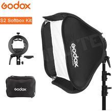 Godox S2 Speedlite Flash Supporto Della Staffa + Softbox con Bowens Mount per Canon Nikin Godox V1 TT685 V860II AD200 AD400PRO flash