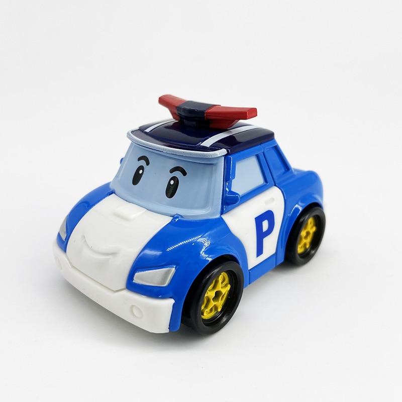 Robocar Kids Toys  Korea Robot Poli Roy Haley Anime Metal Action Figure Cartoon Toy Car For Children Gift