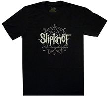 Slipknot Logo Star Diamonte Shirt S-XXL Official T-Shirt Metal Band Tshirt New Loose Black Men T shirts Homme Tees