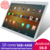 KIVBWY New 10 inch tablet Pc Octa Core 4G Phone Call Google Market GPS WiFi FM Bluetooth 10.1 Tablets 6G+64G Android 10.0 tab