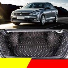 Lsrtw2017 Leather Car Trunk Mat Cargo Liner for Volkswagen Sagitar Jetta Vw Mk6 2012 2013 2014 2015 2016 2017 2018 2019