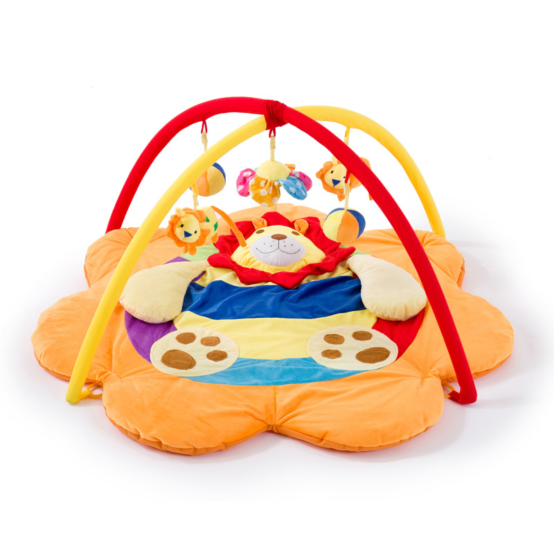 Lion Baby Play Blanket Super Soft Fabric Play Mat Crawling Mat Crawling Blanket Music Toy Fitness Support Floor Mat