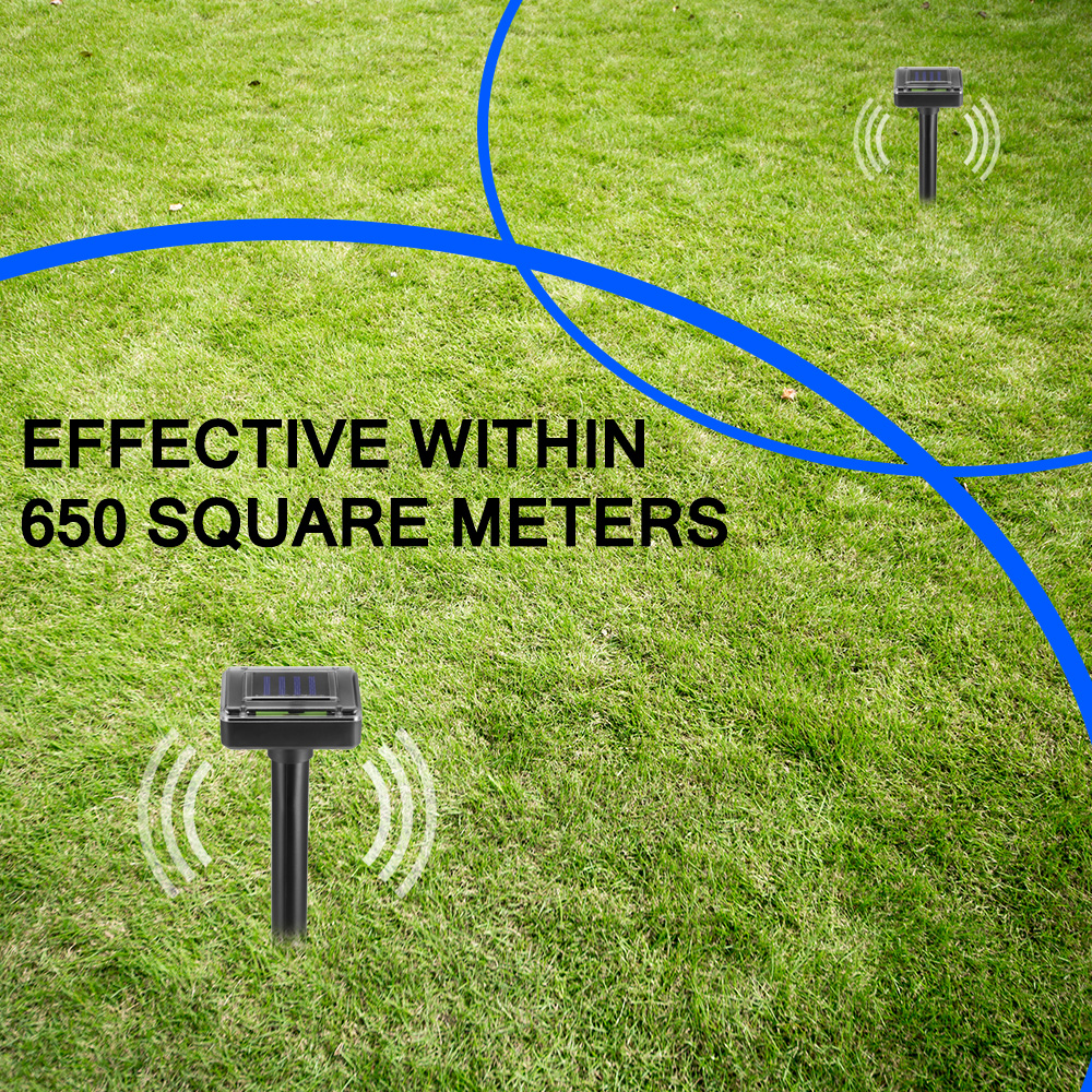 Hot New 400HZ Outdoor Garden Solar Power Mole Repeller Sonic Mouse Repeller With Battery Rainproof And Durable