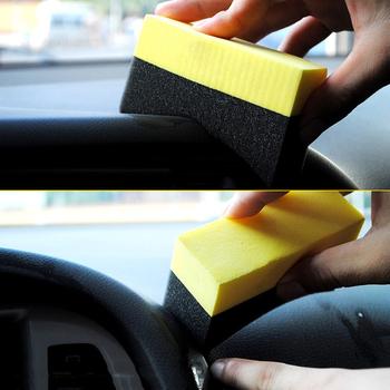 1PC PE wielofunkcyjne urządzenia do oczyszczania wosku rogu wytrzeć wyczyść pozostały wosk wosk do czyszczenia wnętrza samochodu akcesoria samochodowe Spong tanie i dobre opinie JOSHNESE Plac