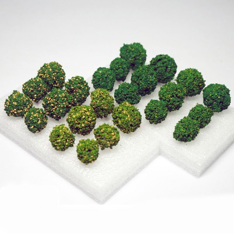 12PCS 3-3.5cm Shrub Trees Architecture Mini Green Trees Landscape Scenery Railway Scale Railway Model Tree image