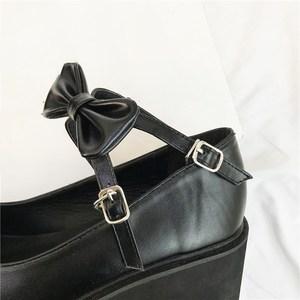 Image 5 - YMECHIC 2020 ニュークロスストラップボウタイ原宿パンクパーティーロリータメアリージェーン女性の靴ハイヒール黒プラットフォーム女性パンプス