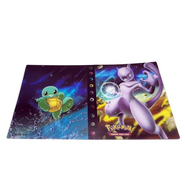 240 шт. держатель Альбом игрушки коллекции Pokemones карты Альбом Книга Топ загруженный список игрушки подарок для детей - Цвет: Album 1  240 holder
