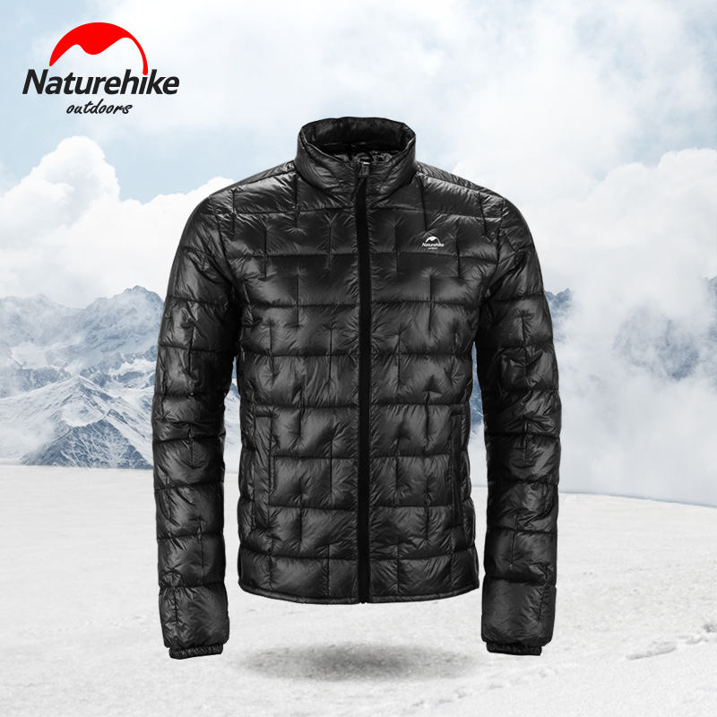 Naturehike 1000 FP Goose Down Jackets Ultralight 10D Nylon Fabric Outdoor Winter Camping Climbing Down Coat Men Jackets