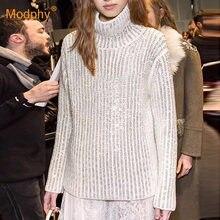 Осень зима 2020 новый кашемировый свитер женский белый пуловер