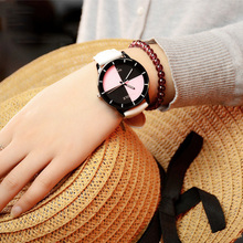Leather Casual Wrist Watch Women Fashion Minimalist Watch Starry Sky Dial Ladies Dress Watch 2019 Woman Watch Montre Femme xfcs fashion large dial casual watch lady simple stainless steel lady wrist watch dress clock fashion watch saat montre femme