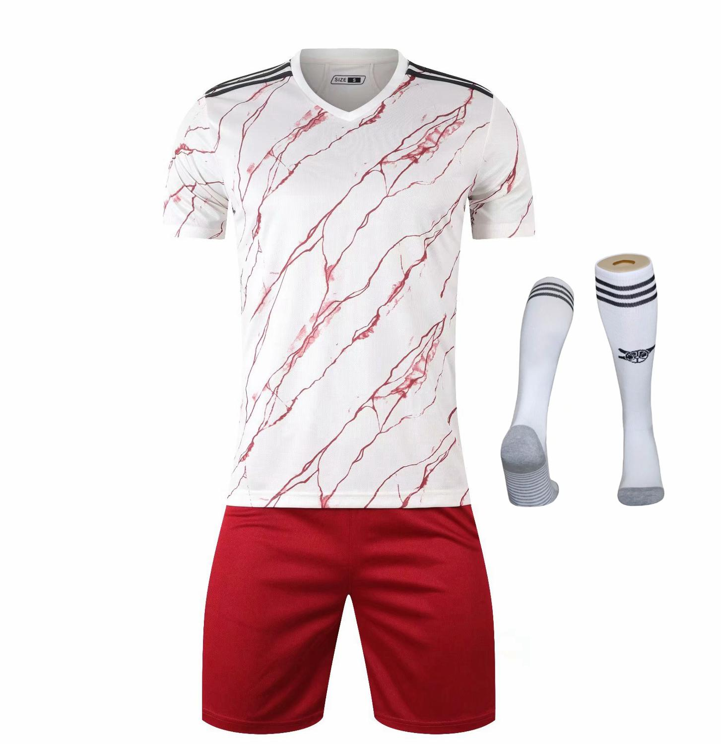 Children Sets football uniforms boys and girls sports kids youth training suits blank custom print soccer set with socks 7