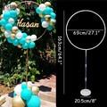 1 комплект 163x69 см широкий круглый воздушный шар основание колонны и пластиковые шесты шар арки Свадебные украшения день рождения, мероприят...