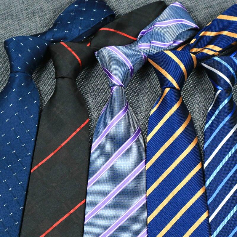 YISHLINE 40 COLORS Classic Men Tie 8cm Fashion Business Formal Wedding Ties Stripe Neck Tie Fashion Shirt Dress Accessories