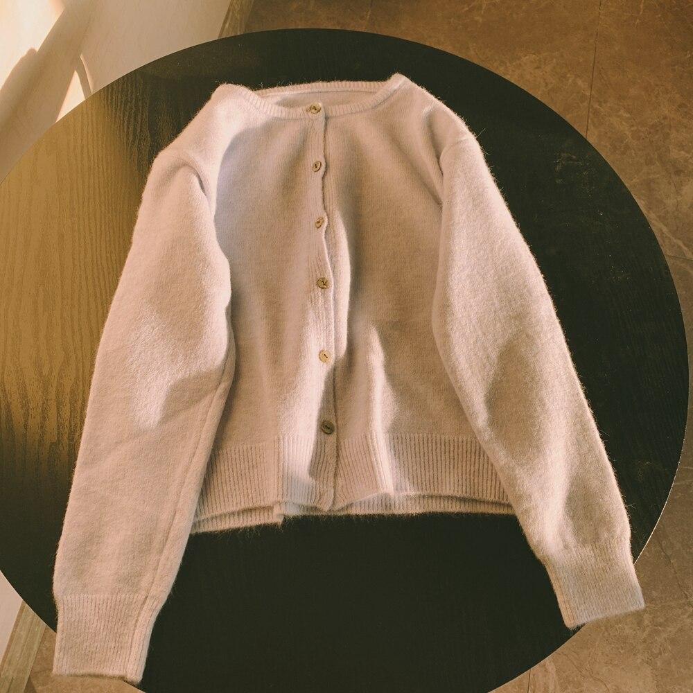 Купить укороченный топ zhisilao вязаный свитер кардиган женский однотонный