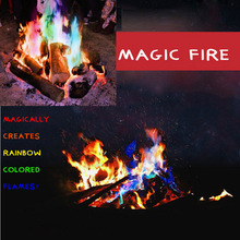 15g feu mystique tours de magie flammes colorées Bonfire Sachets cheminée fosse Patio jouet magiciens professionnels pyrotechnie