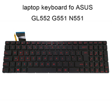Replacement Keyboards GL552 Portuguese 0KN0 ASUS G551 for ROG Black Red 0kn0/Rz1uk11/0knb0/..