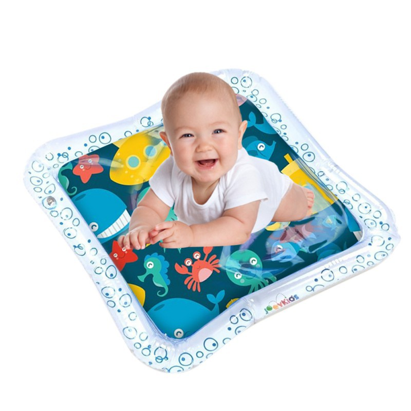 New Inflatable Water Mat Baby Cartoon Play Mat Fun Activity Play Center Water Filled Cushion Infant Early Education Toys Mat E