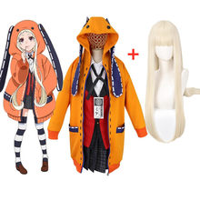 Anime vetement manga yomoduki runa cosplay traje escola uniforme jabami yumeko jogador meninas roupas femininas zentai terno