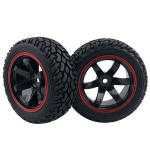 Image 2 - RC 701A 8019 Rubber Tire&Plastic Wheel Rim For HSP HPI 1/16 On Road Rally Car