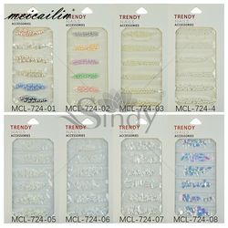 1 Pack Colorful ABS Imitation Pearls Mixed Size 3D Nail Art Decorations Pearl Glass Rhinestones Nails Accessories Crystal Stones