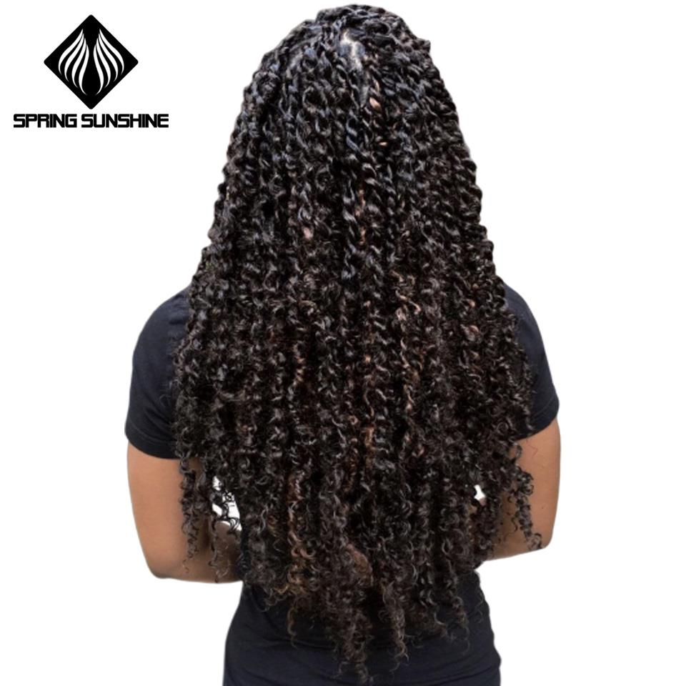 18inch Long Passion Twist Hair Synthetic Pre Passion Twisted Braiding Hair Spring Kinky Twist Hair Crochet Braid Hair Extension