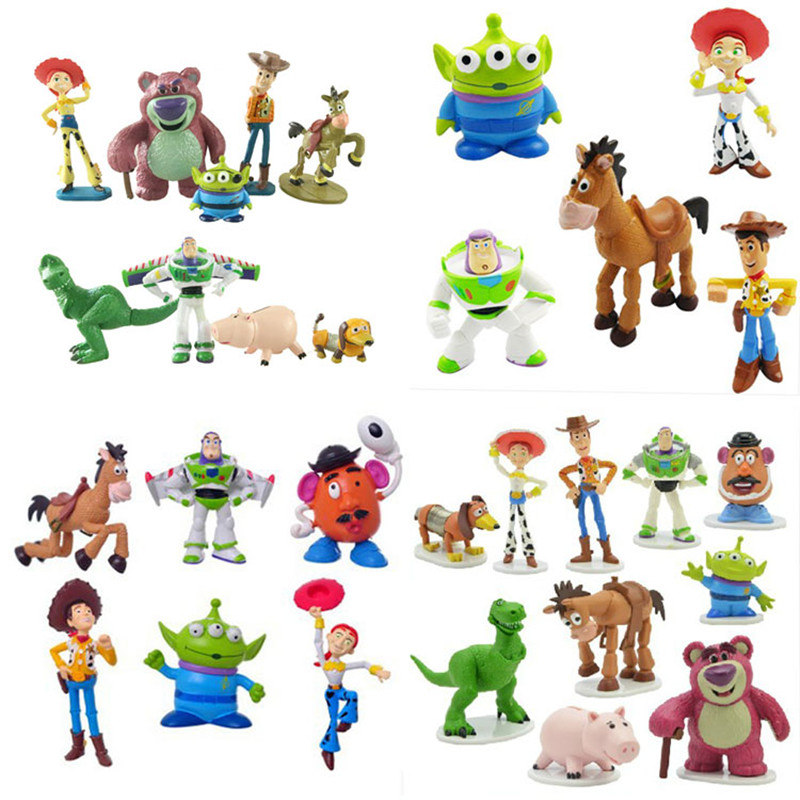 Disney Toy Story 4 Cartoon Figure Toy 2019 Woody Buzz Lightyear Jessie Forky Doll Action Figure Children Gift