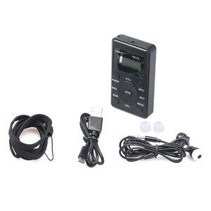 Image 3 - HRD راديو FM محمول 100 DAB ، مستقبل FM مع سماعات أذن ، جهاز إرسال رقمي صغير قابل لإعادة الشحن ، للاستخدام اليومي والسفر