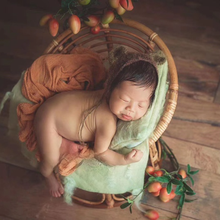 2021. Neonatal photography photography props baby retro  basket, pure hand