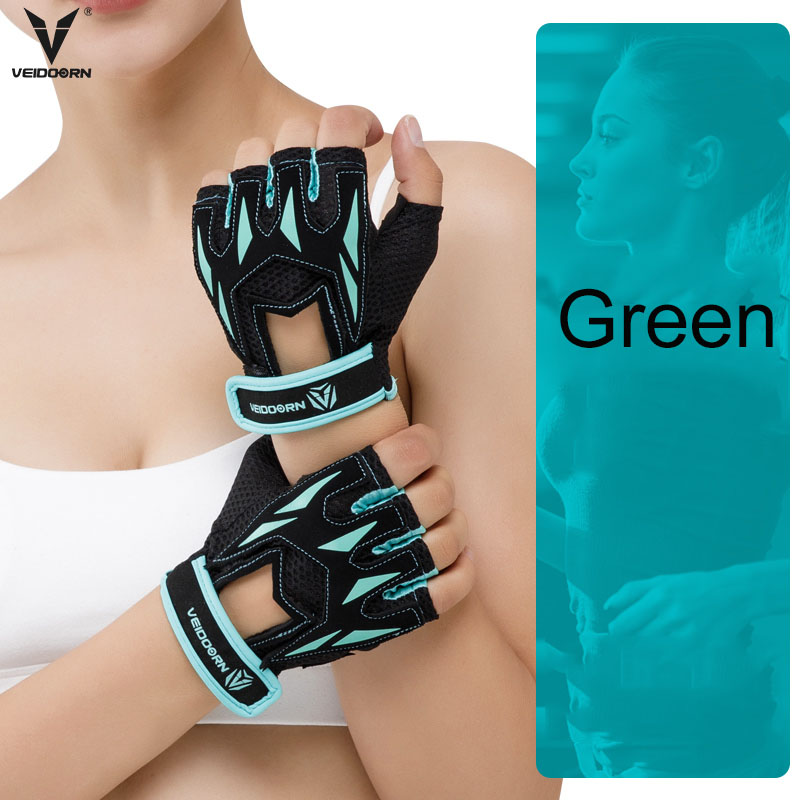 Veidoorn Professional Gym Gloves Exercise Weight-lifting Gloves Women Breathable Sports Gloves Fitness  Cycling Workout
