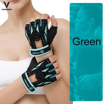 Veidoorn profesjonalne rękawice gimnastyczne ćwiczenia podnoszenie ciężarów rękawice damskie oddychające rękawiczki sportowe fitness kolarstwo trening tanie i dobre opinie gym gloves